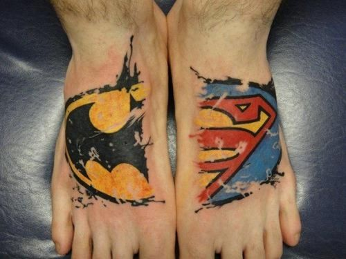 super/bat/man....awesome :) I would almost consider doing this because I'm a fan of both :)