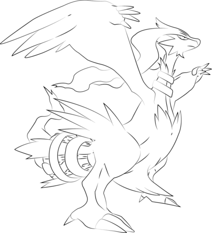 Click To See Printable Version Of Reshiram Pokemon Coloring Page
