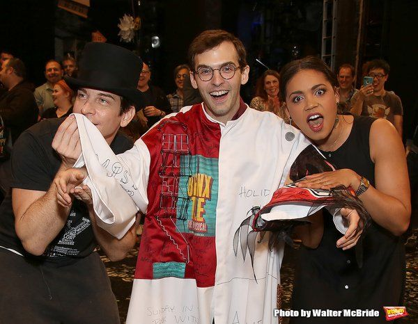 Andy Karl, Joseph Medeiros and Barrett Doss, the Gypsy Robe Ceremony ...