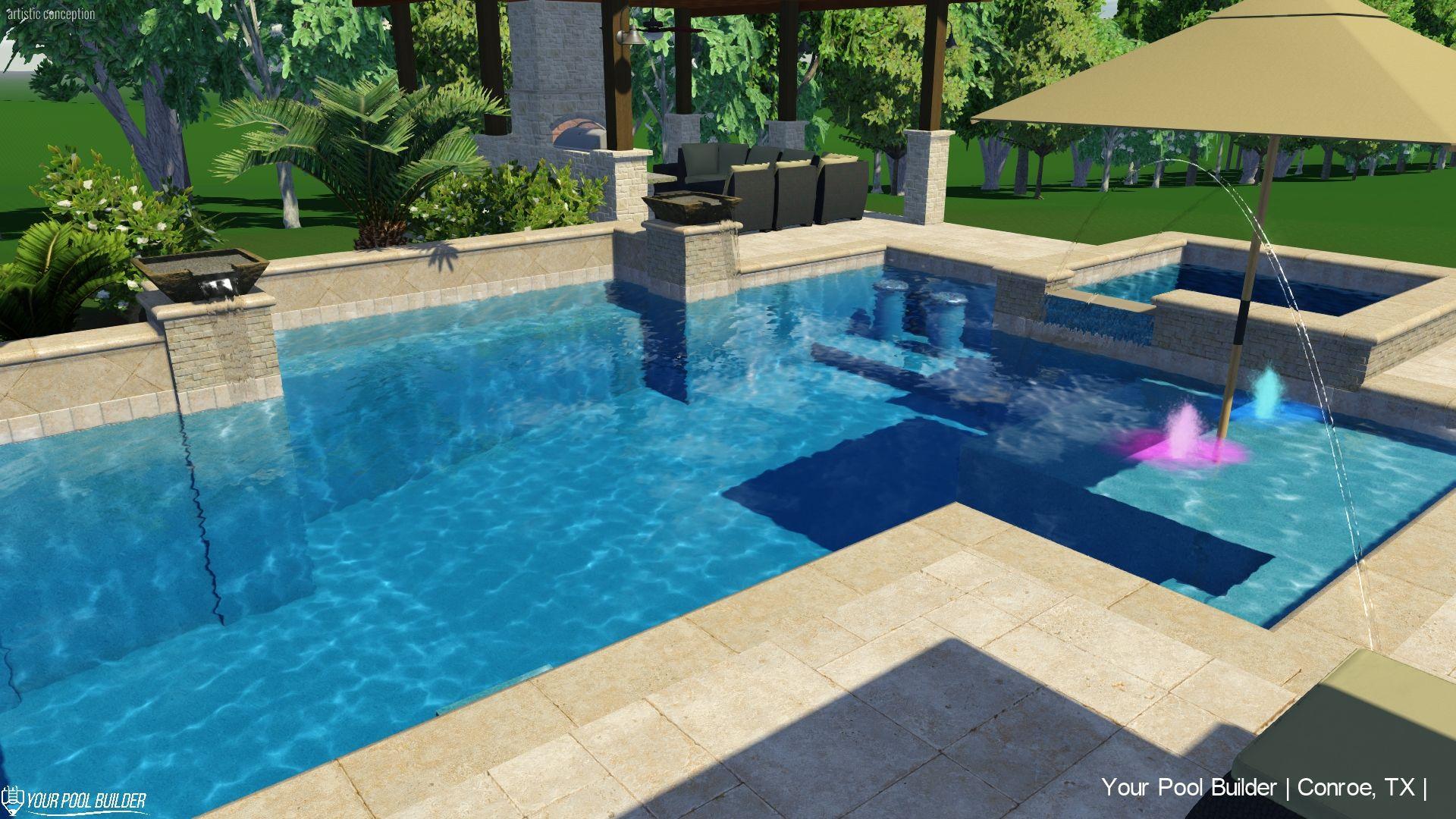 My Pool Features List Choose Custom Pool Spa Options Custom Pools Pool Spa Pool