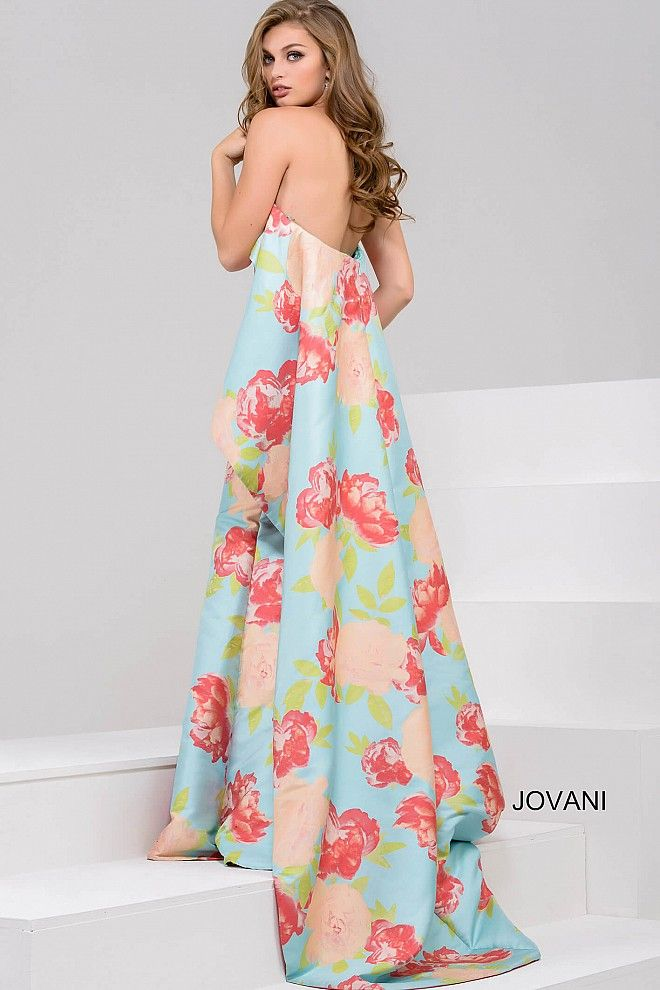 Print Strapless Long Floral Dress 50970 | Prom 2017 | Pinterest ...