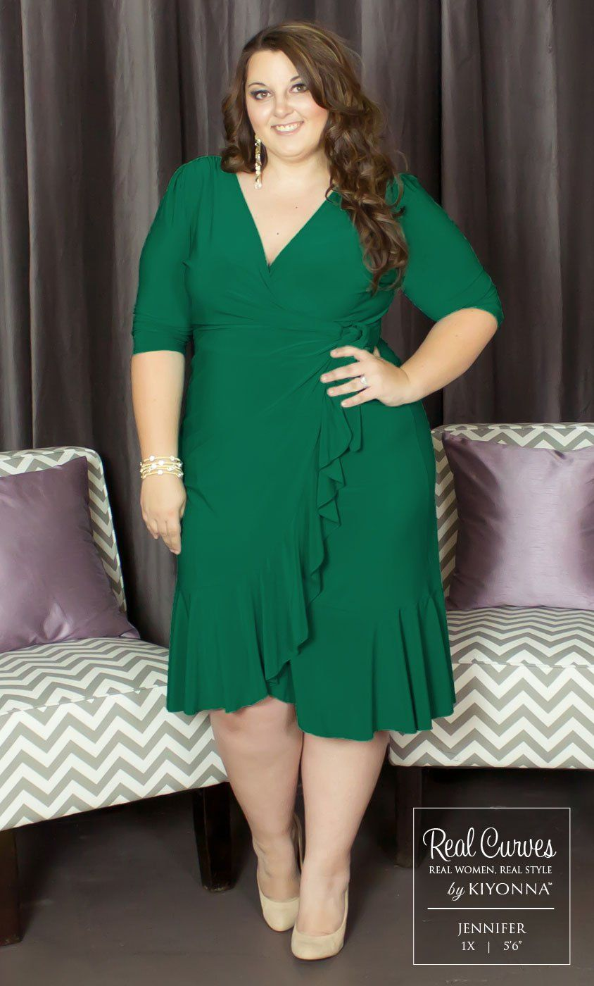 Real Curves for Whimsy Wrap Dress | Plus Size | Pinterest | Wrap ...