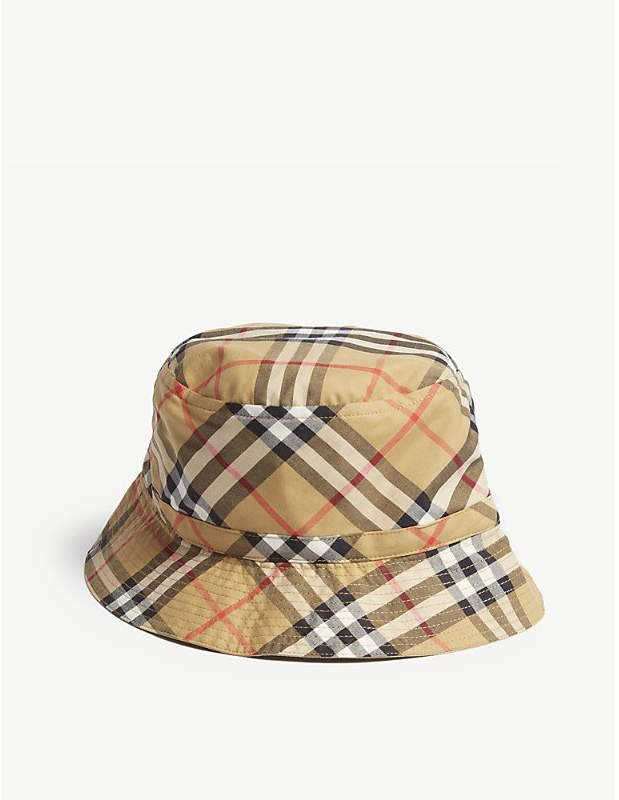 9d6aee8a291 Burberry Reversible cotton bucket hat