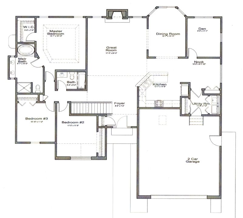 Ranch House Open Floor Plans Please Click On Floorplan For A Larger View Open Floor House Plans Ranch Style Floor Plans House Plans Open concept ranch house plans with basement