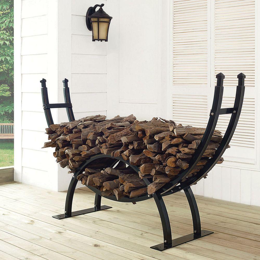 Firewood Log Rack Holder Fireplace Wood Storage Black Steel Kindling Heater  SALE #CrosleyFireplace #Traditional