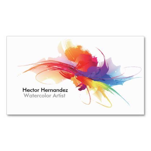 Artist Business Card Zazzle Com Artist Business Cards Painter Business Card Business Cards Watercolor