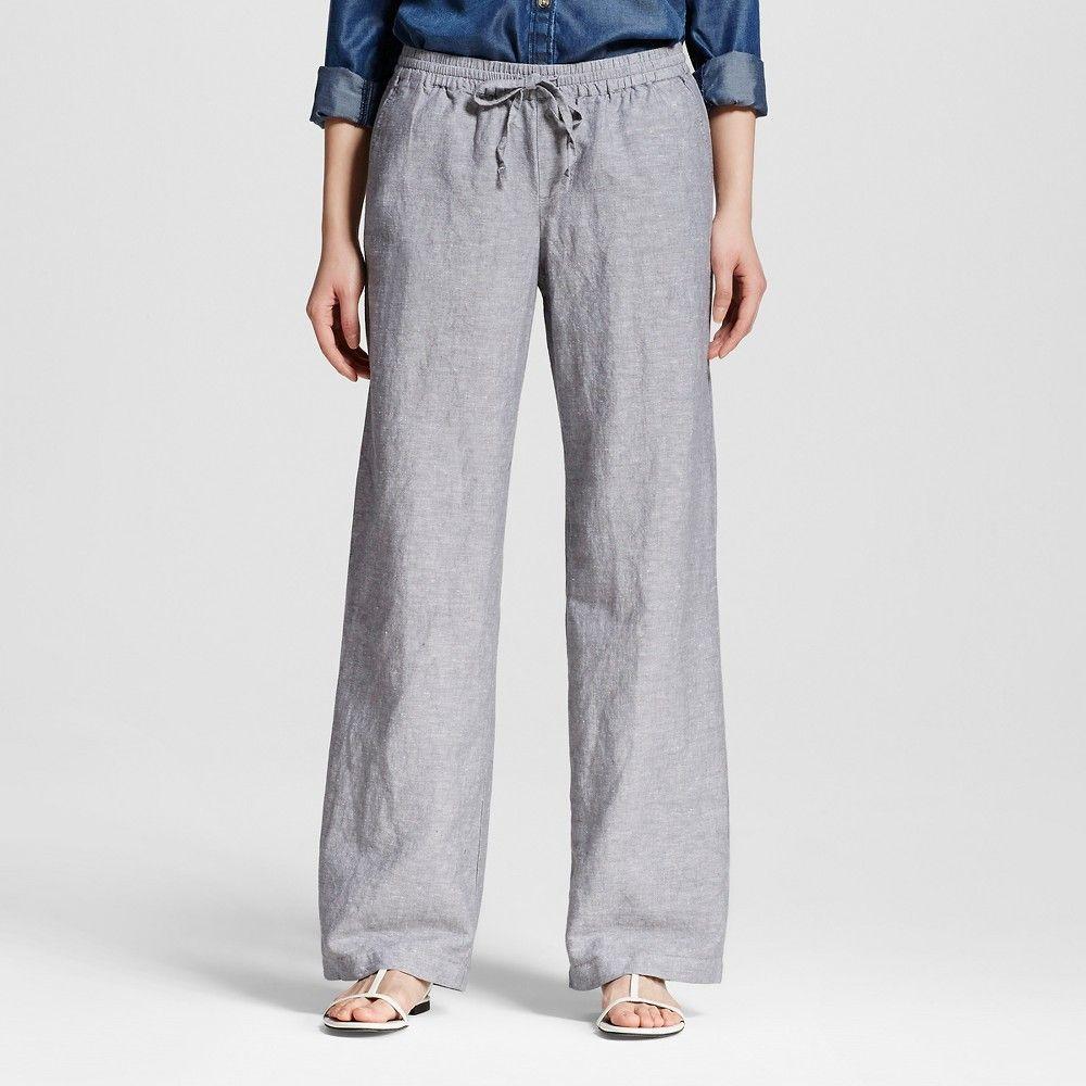 aa5960fd629 Women s Linen Pant Gray S - Merona