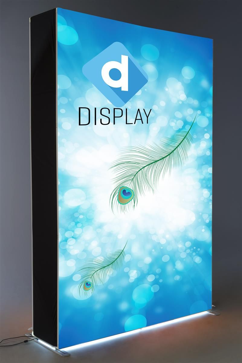 5 W Backlit Trade Show Display W Custom Printed Full Color Seg Graphics Pop Up Frame Pop Up Frame Trade Show Display Custom Print