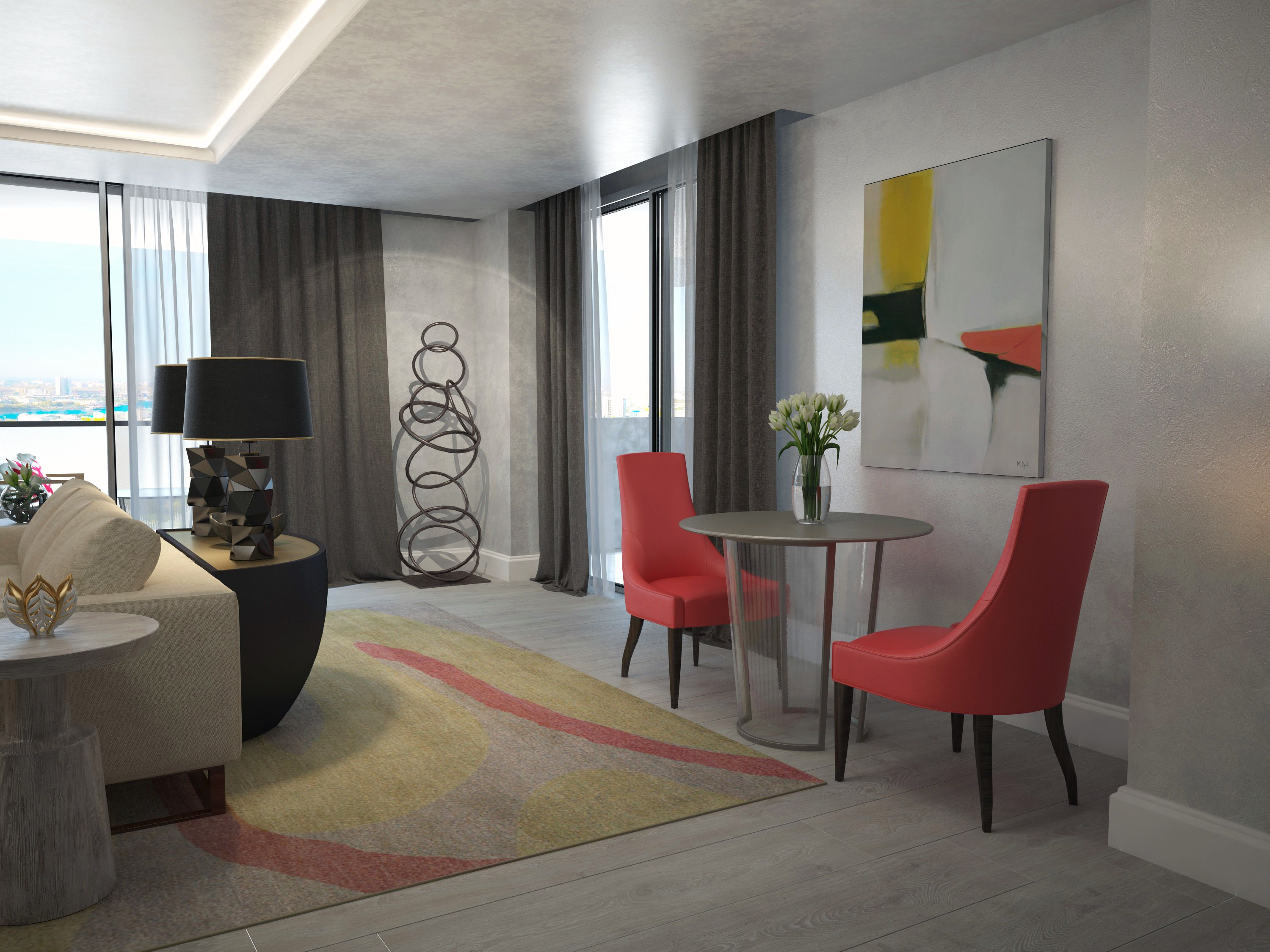 Living Room Design With A Pop Of Color In 2020 Living Room Designs Living Room Interior #pop #of #color #in #living #room