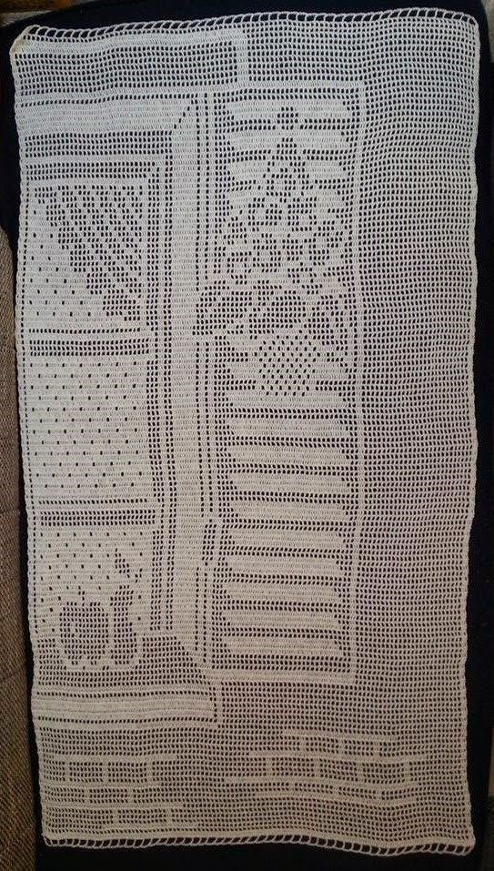 Häkelfieber: Vorhang \'Fenster\' C Crochet curtain charts | Häkeln ...
