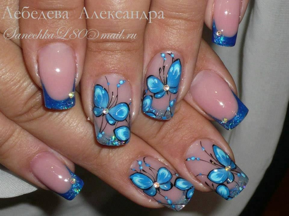 Butterfly nail art design | Make-up, Skin, Nails, & Hair | Pinterest ...