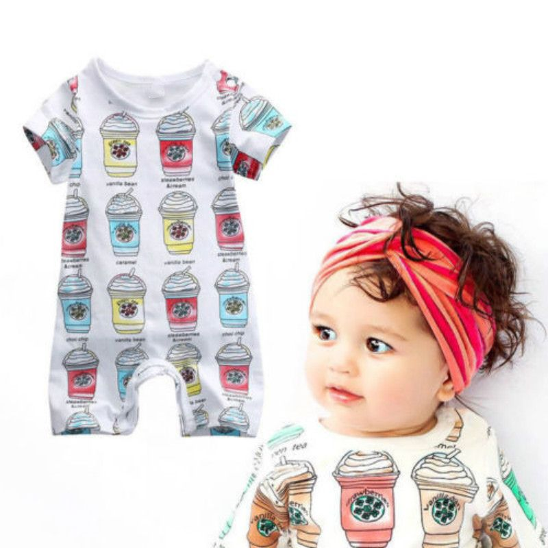 Summer 2017 Fashion Cute Jumpsuit Newborn Baby Boy Girls Clothes