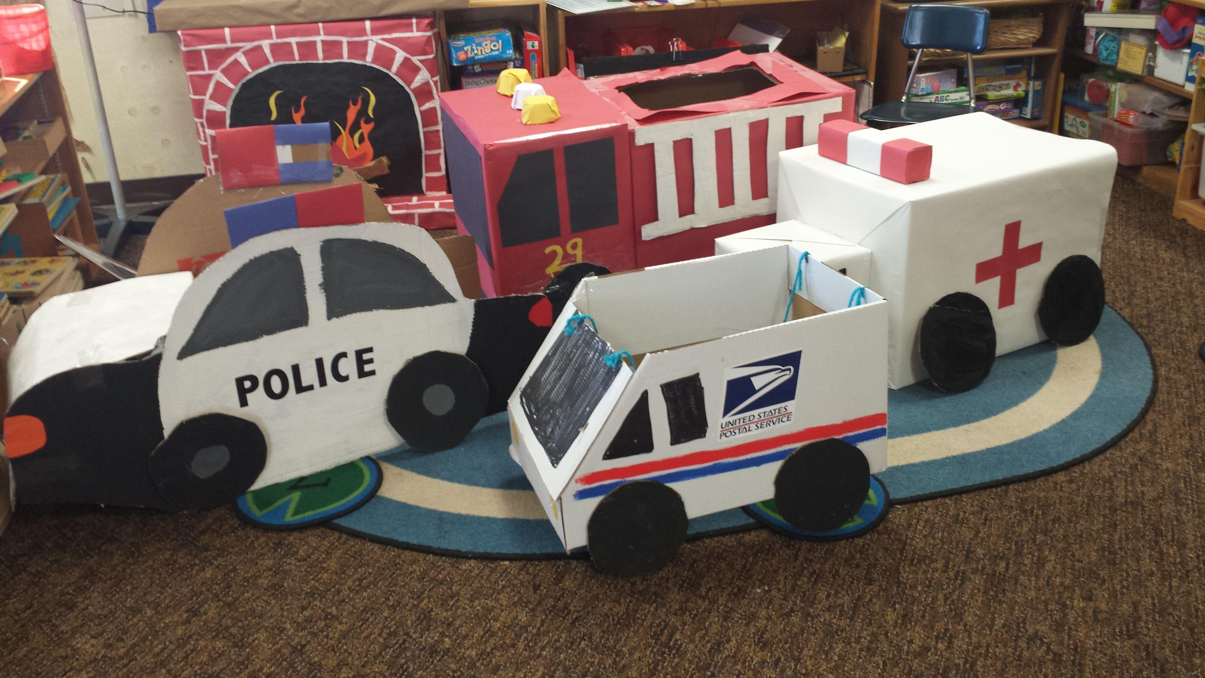 Our Card Board Emergency Vehicle Fleet