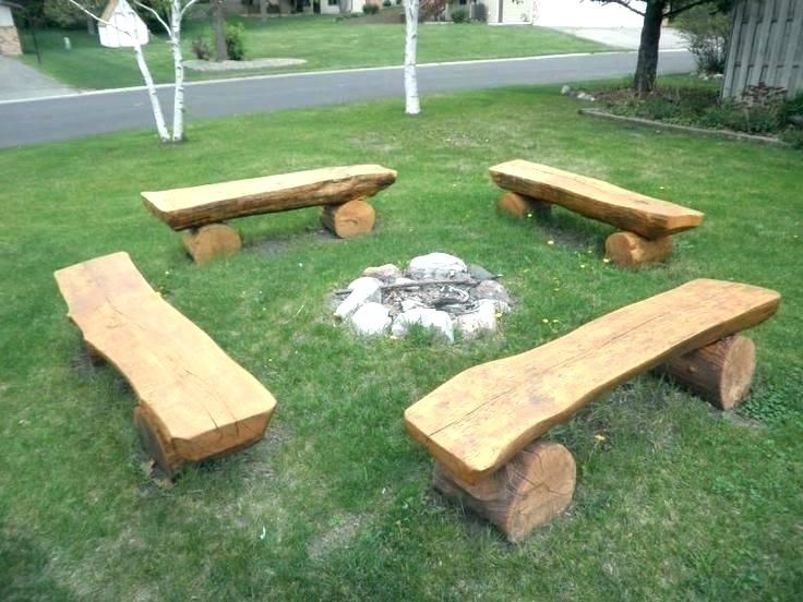 Log Benches Outdoor, Outdoor Log Furniture