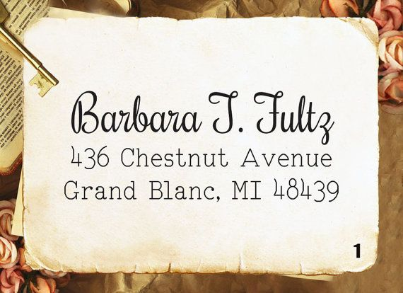 Create A Custom Script Self Inking Address Stamp S11