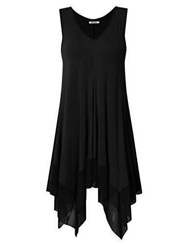 best sneakers ae609 d2aac KOJOOIN Damen Plus Size Asymmetrische Lässige Longshirt ...