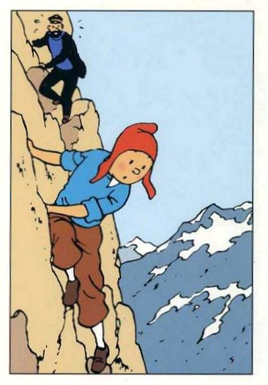 Tintin in Prisoners of the Sun. He looks precious in that ...