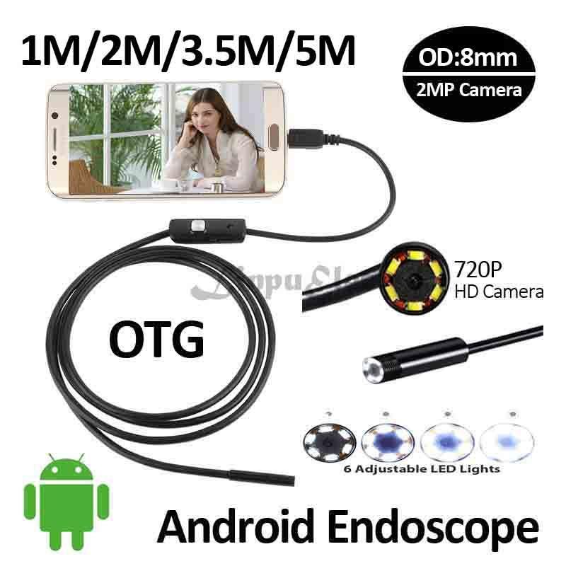 Hd720p 2mp Android Otg Usb Endoskop Kamera 8mm 5 M 3 5 M 2 M 1 M Elastyczny Waz Inspekcja Rur Boroskop Usb Android Usb Kam Android Camera Otg Smartphone Lenses