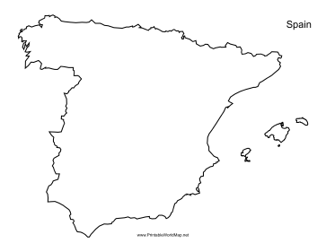 This Printable Outline Map Of Spain Is Useful For School Assignments Travel Planning And More Free To Download And Print Map Of Spain Map Outline France Map