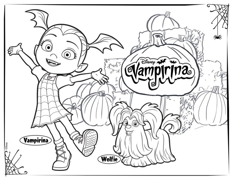 Vampirina Coloring Pages And Friends 101 Coloring Disney Coloring Pages Halloween Coloring New Year Coloring Pages