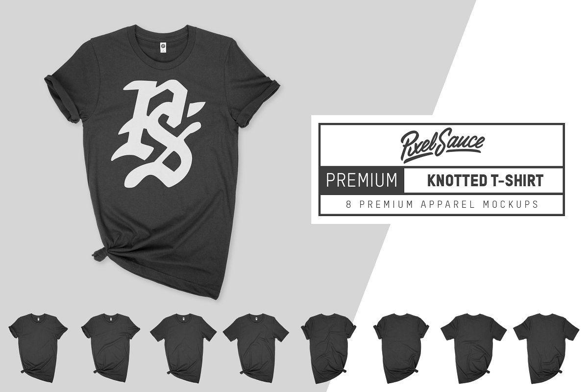 Download Premium Knotted T Shirt Mockup Shirt Mockup Tshirt Knot Clothing Mockup