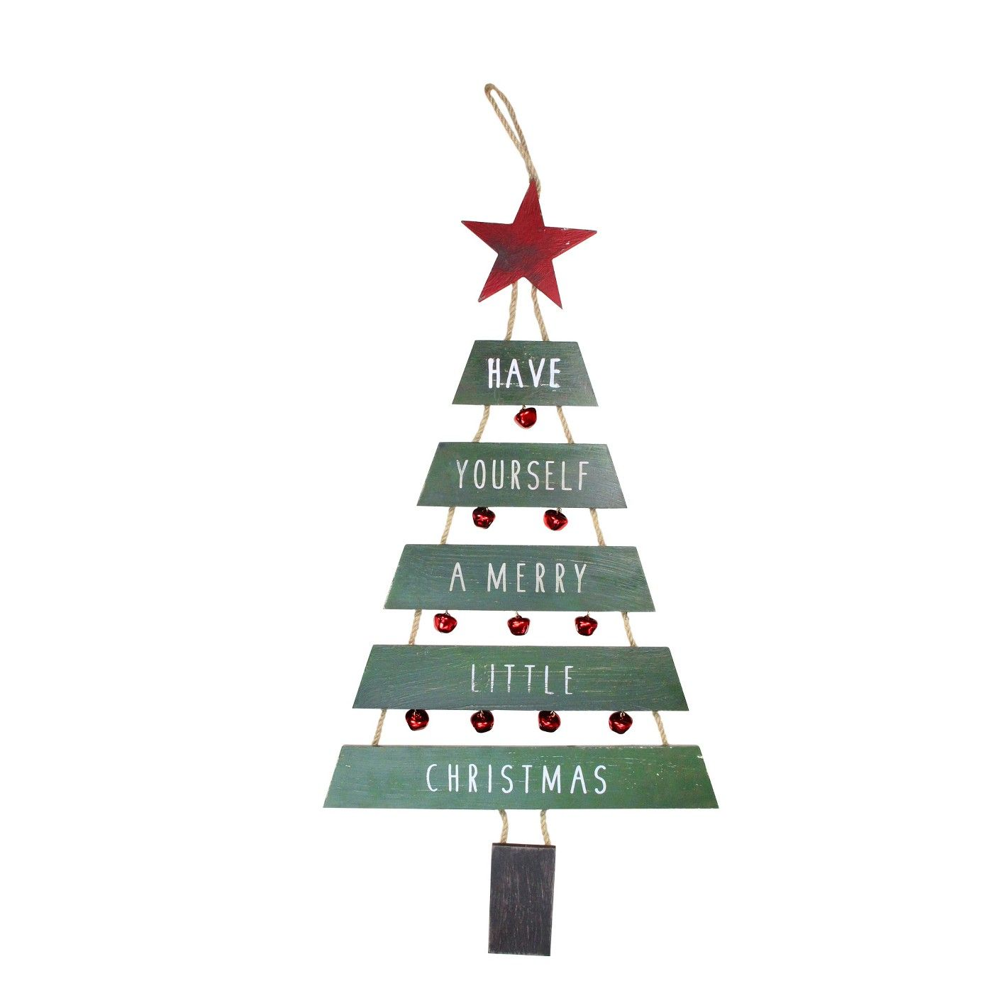 Raz Imports 31 Country Rustic Hanging Jingle Bells Christmas Tree Sign Hanging Christmas Tree Green Christmas Tree Tree Signs