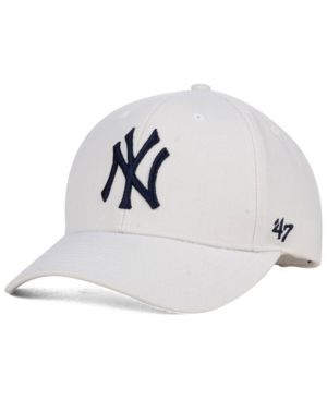 47 Brand New York Yankees Mvp Curved Cap - White Adjustable  084a3ee0710