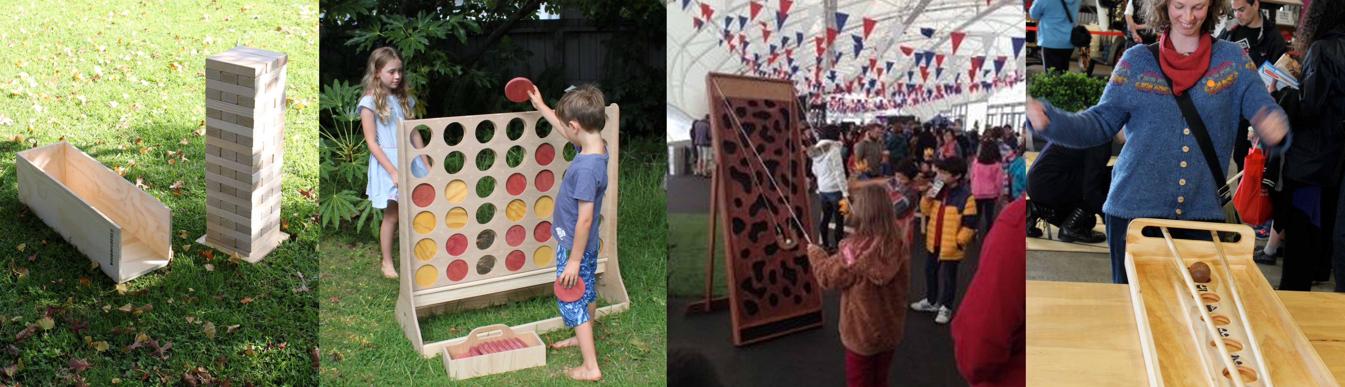 Wooden Games Hire For Weddings And Events Auckland Giant Connect 4 Jenga Quoits Giant Games Lawn Games Backyard Fun