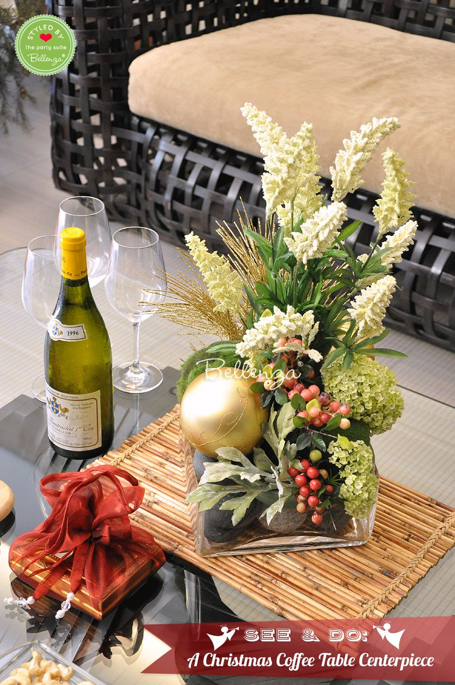 How To Make A Christmas Coffee Table Centerpiece