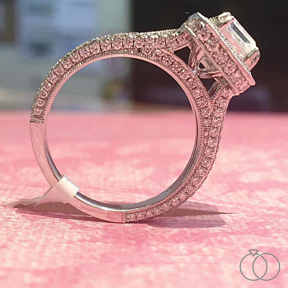Kirk Kara 18K White Gold Diamond Engagement Ring Setting | Kara ...