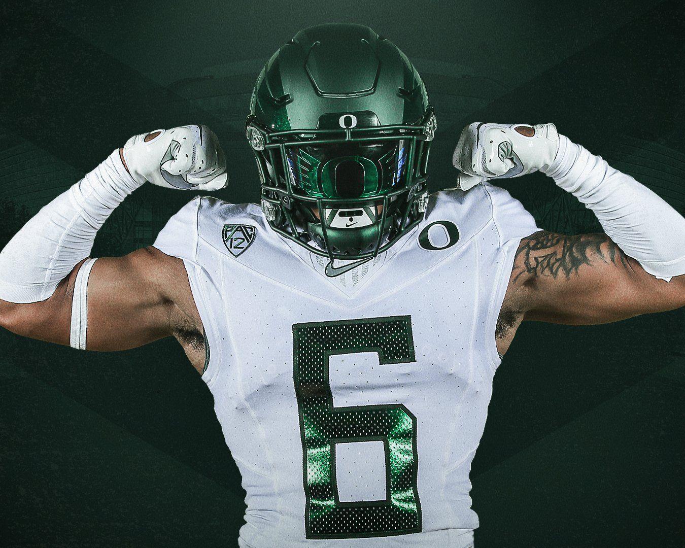 Oregon Ducks O Logo Shoc Football Visor College Football Uniforms Football Helmets Football Uniforms