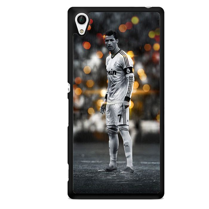 Most Good Looking Manchester United Wallpapers White Christiano Ronaldo TATUM-2582 Sony Phonecase Cover For Xperia Z1, Xperia Z2, Xperia Z3, Xperia Z4, Xperia Z5