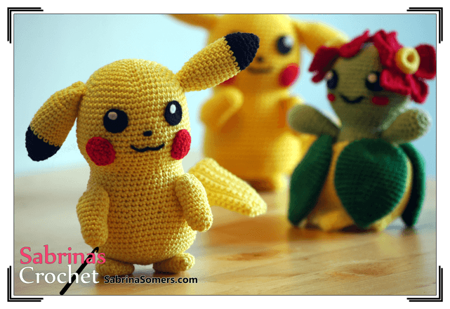 Pikachu - Pokemon - Kostenlose häkelanleitung - Amigurumi ...