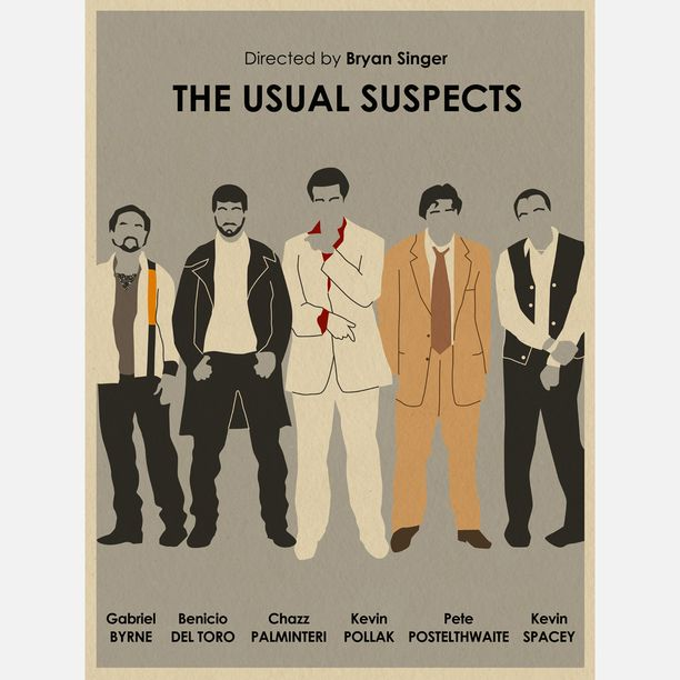 a poster homage to the usual suspects affiches pinterest film cin ma et affiche film. Black Bedroom Furniture Sets. Home Design Ideas