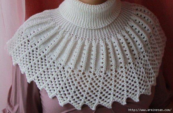 Воротнички спицами. Схемки / Вязание спицами / Вязание для женщин спицами. Схемы