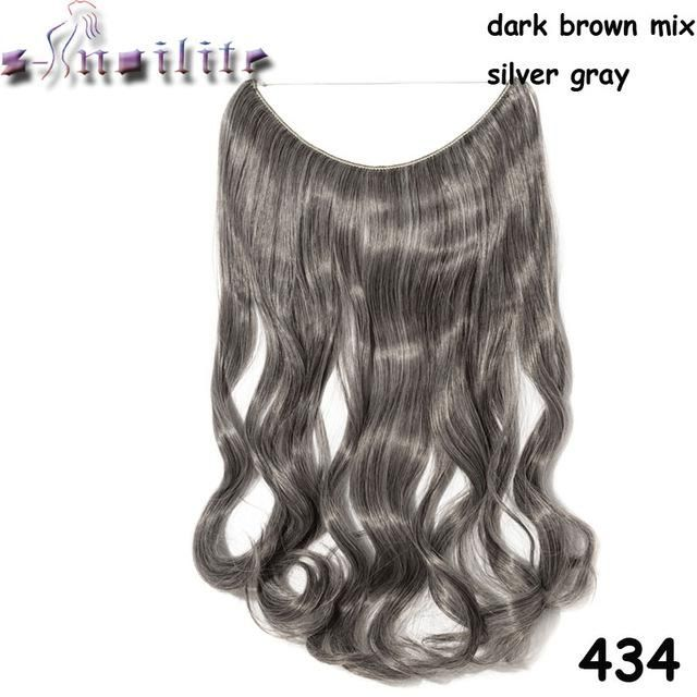 20 Inches Invisible Wire No Clips Hair Extensions Secret Fish Line