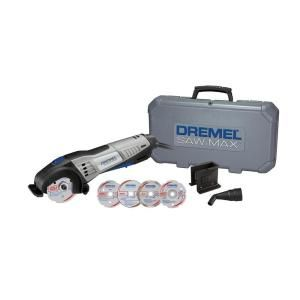 Dremel Saw Max 6 Amp Variable Speed Corded Tool Kit For Wood Plastic Tile And Metal With 4 Blades 2 Attachments And Case Sm20 02 The Home Depot Dremel Dremel Saw Max Dremel Saw