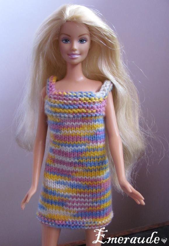 comment tricoter une robe pour barbie