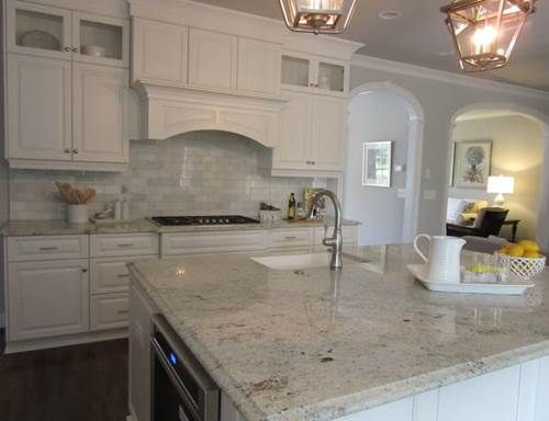 Colonial White Granite Is A Mix Of Cottony Pale Grey, Combined With Over  Cast Silver And Highlighted By Jet Black Speckles. This Indian Gra.