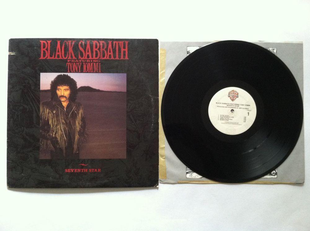 Black Sabbath Seventh Star Featuring Tony Iommi Vinyl Record Lp Wb 1 25337 Vinyl Records Classic Rock Albums Records