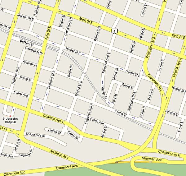 Map of Corktown Corktown Hamilton Real Estate Pinterest