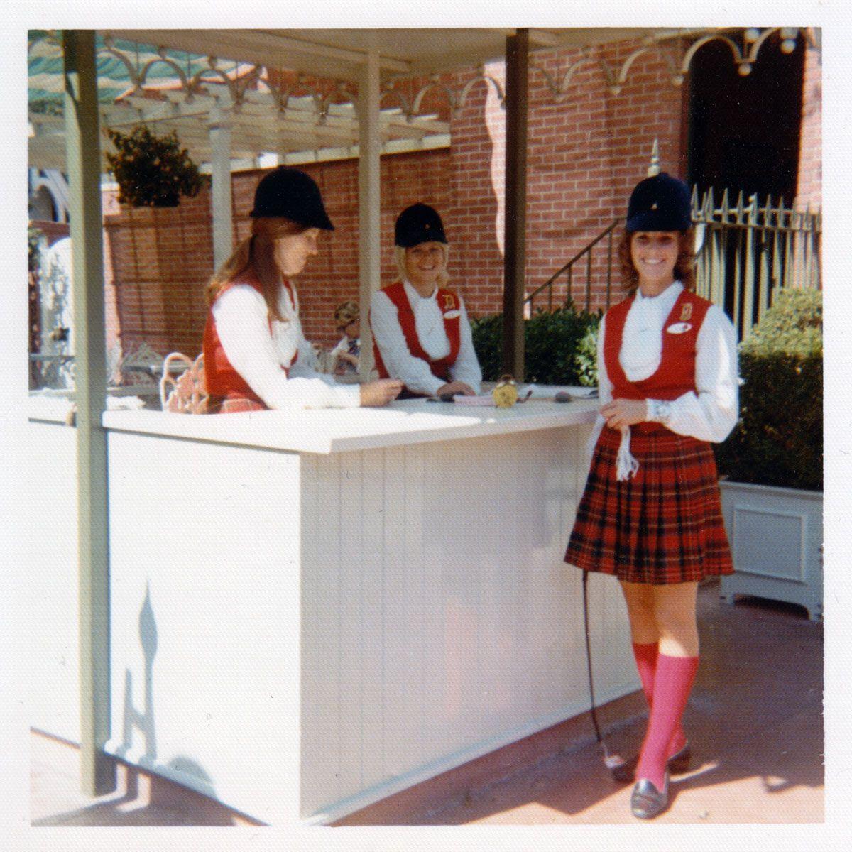 Disneyland tour guides in the 1970s Retro disney
