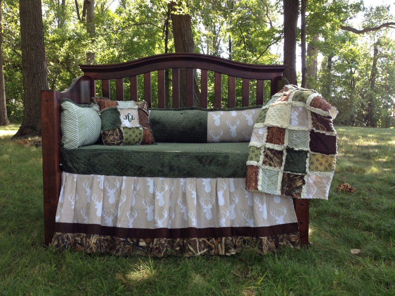 BUCKS TRACKS RUBS Custom Baby Bedding And Nursery Sets - Baby boy deer crib bedding sets