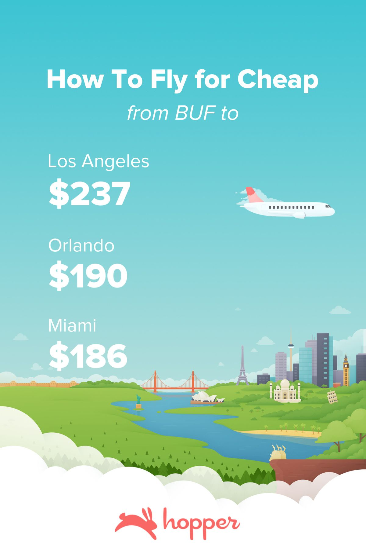 Popular airlines flying from Orlando