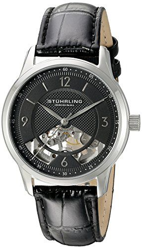 Men's Wrist Watches - Stuhrling Original Mens 97702 Legacy Analog Display Mechanical Hand Wind Black Watch ** More info could be found at the image url.