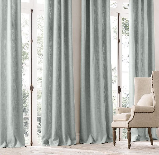 Belgian Linen Cross Weave Drapery Linen Curtains Home Design