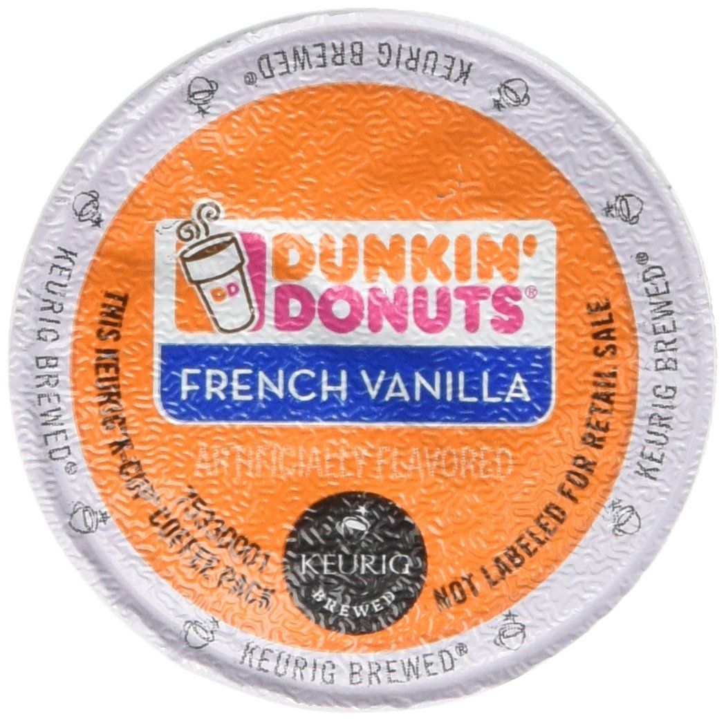Dunkin donuts french vanilla flavored coffee kcups for
