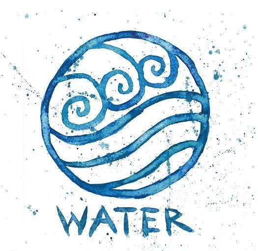 Ähnliche Artikel wie Wasser Stamm Symbol | 10 x 10-Aquarell-Druck | Avatar the Last Airbender auf Etsy