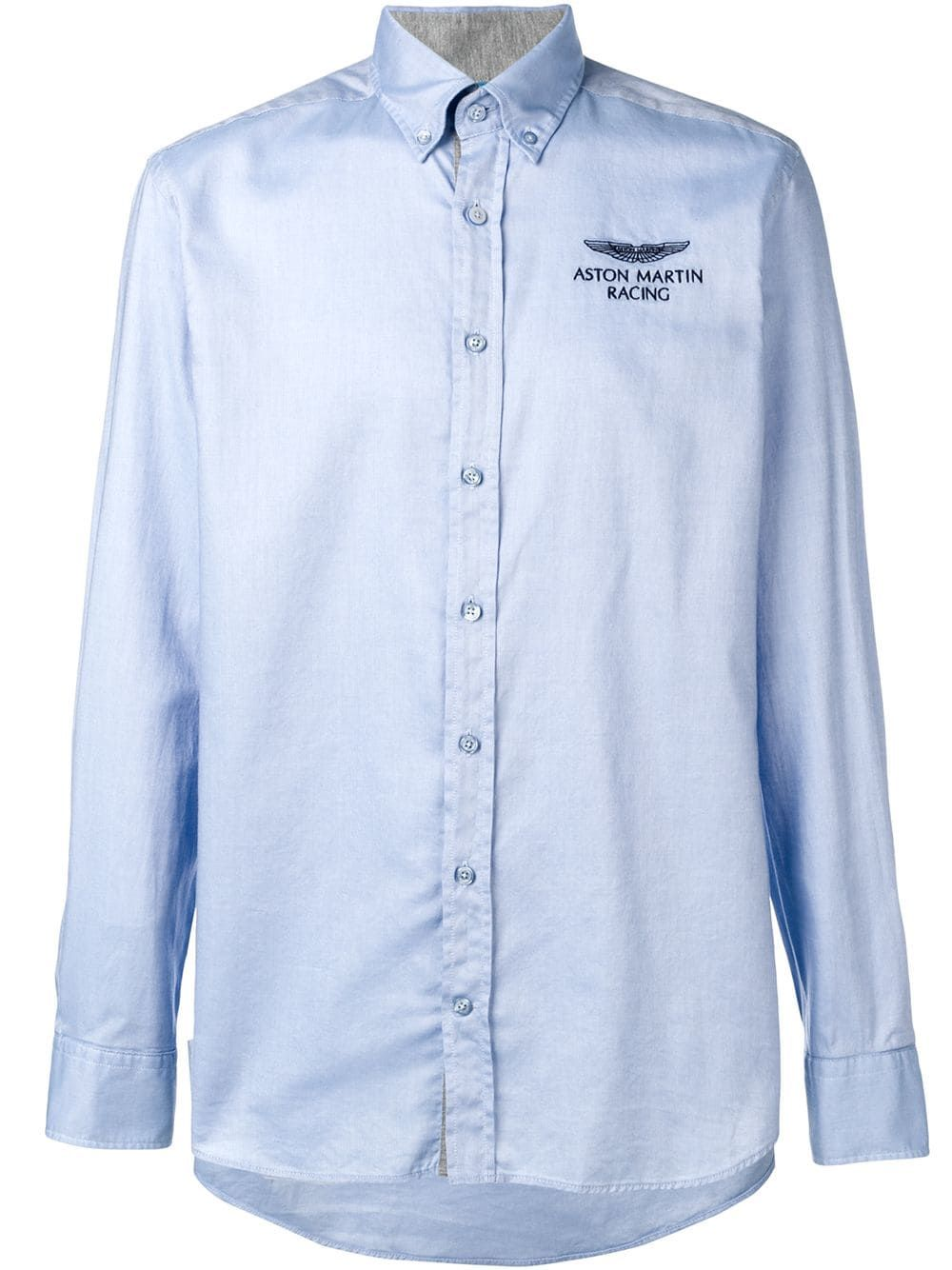 Hackett X Aston Martin Racing Shirt In Blue Modesens Racing Shirts Shirts Oxford Shirt