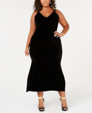 Rebdolls A-Line Midi Velvet Dress from The Workshop at Macy ...